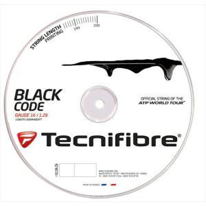『即日出荷』 「新パッケージ」Tecnifibre テクニファイバー 「BLACK CODE ブラックコード  200mロール TFR505」硬式テニスストリング ガット KPI+|sportsjapan