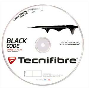 『即日出荷』「新パッケージ」Tecnifibre テクニファイバー 「BLACK CODE ブラックコード  200mロール TFR506」硬式テニスストリング ガット 「KPI」 sportsjapan