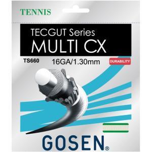 『即日出荷』 GOSEN(ゴーセン)「テックガット マルチCX 16」TS660 硬式テニスストリング(ガット)KPI+ sportsjapan