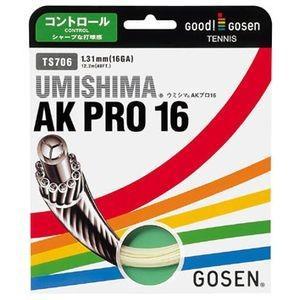 GOSEN ゴーセン 「ウミシマAKプロ16」ts706 硬式テニスストリング ガット ブラック 『即日出荷』|sportsjapan