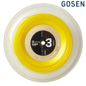 「ご購入でロールバッグプレゼント」「2017新製品」GOSEN ゴーセン 「G-TOUR3 ジーツアー3  17GA 220mロール TSGT312」 硬式テニスストリング ガット|sportsjapan