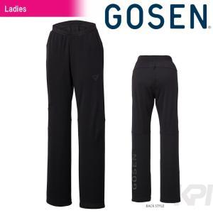テニスウェア レディース ゴーセン GOSEN ニットロングパンツ W1503 FW|sportsjapan