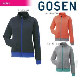 「2017モデル」GOSEN(ゴーセン)「Women's レディース ソフトニットジャケット W1601」テニスウェア「2016FW」KPI+|sportsjapan