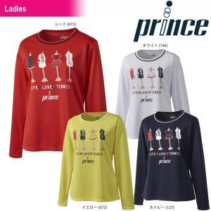 テニスウェア レディース プリンス Prince ロングスリーブシャツ WL8042 2018SS 即日出荷|sportsjapan