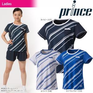 プリンス Prince テニスウェア レディース ゲームシャツ WL8055 2018SS『即日出荷』|sportsjapan