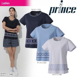 プリンス Prince テニスウェア レディース ゲームシャツ WL8069 2018SS『即日出荷』|sportsjapan