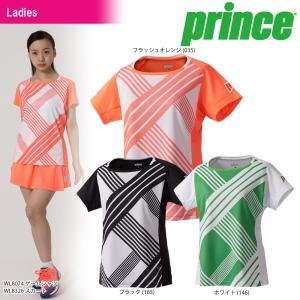 テニスウェア レディース プリンス Prince ゲームシャツ WL8074 2018SS 即日出荷|sportsjapan