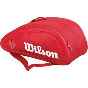 『即日出荷』 「2017新製品」Wilson(ウィルソン)[FEDERER DNA 12 PACK RD フェデラーモデル WRZ830712]テニスバッグKPI+|sportsjapan