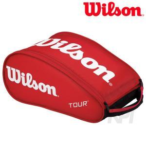 「2017モデル」Wilson ウイルソン 「TOUR SHOE BAG III RD ツアーシューズバッグIII WRZ843687」テニスバッグ|sportsjapan