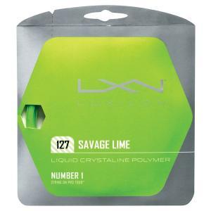 『即日出荷』 「■5張セット」LUXILON(ルキシロン)「SAVAGE 127 (サベージ127)ライム WRZ994500」硬式テニスストリングKPI+|sportsjapan