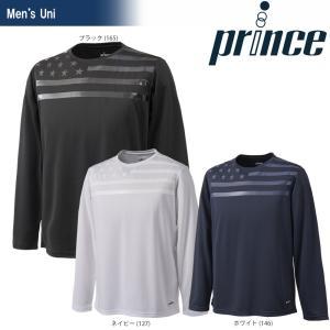 テニスウェア ユニセックス プリンス Prince ロングスリーブシャツ WU8006 2018SS 即日出荷|sportsjapan