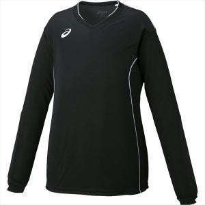 「2017新製品」asics(アシックス)[W'SプラシャツLS XW6423-9001]バレーボールウェア sportsjapan