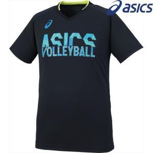 アシックス asics バレーボールウェア ユニセックス プラクティスショートスリーブトップ XW6741-9089 2018SS|sportsjapan