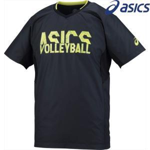 アシックス asics バレーボールウェア ユニセックス ウオームアップショートスリーブトップ XWW627-9089 2018SS|sportsjapan
