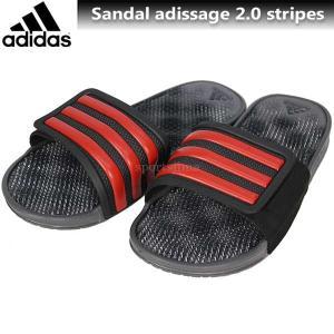 2017 サンダル メンズ adidas アディダス サンダル アディサージSC2.0 BB4571 コアブラック×コアレッド|sportsjima