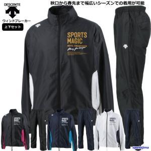 デサント Tシャツ 半袖 + ハーフ 上下 メンズ  トレーニングウェア ランニング DMMNJA5...
