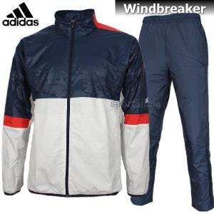 adidas アディダス Tennis 裏起毛 ウィンドブレーカー ジャケット パンツ 上下 DJF22 BS0159 DJF24 BS0167 ホワイト×ネイビー|sportsjima