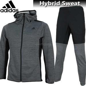 2017 スウェット 上下 adidas アディダス トレーニング ハイブリッド スウェット 上下 DUQ66 CD4378 DUQ65 CD4381 ブラック|sportsjima