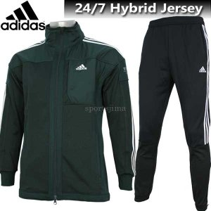 2017 ジャージ 上下 メンズ adidas アディダス 24/7 ハイブリッドジャージ ジャケット パンツ 上下 ECF36 CD2887 ECF34 CD9652 グリーン×ブラック|sportsjima