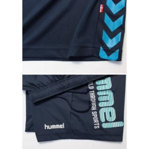 ヒュンメル Tシャツ 上下 メンズ トレーニングウェア サッカー 半袖 + ハーフ HAP4129 HAP2065 2カラー 吸汗速乾 上下セット|sportsjima|11