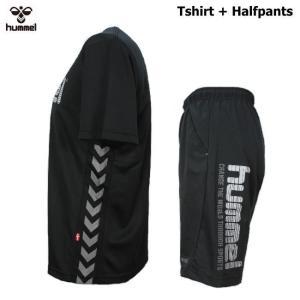 ヒュンメル Tシャツ 上下 メンズ トレーニングウェア サッカー 半袖 + ハーフ HAP4129 HAP2065 2カラー 吸汗速乾 上下セット|sportsjima|04