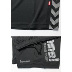ヒュンメル Tシャツ 上下 メンズ トレーニングウェア サッカー 半袖 + ハーフ HAP4129 HAP2065 2カラー 吸汗速乾 上下セット|sportsjima|06