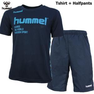 ヒュンメル Tシャツ 上下 メンズ トレーニングウェア サッカー 半袖 + ハーフ HAP4129 HAP2065 2カラー 吸汗速乾 上下セット|sportsjima|07
