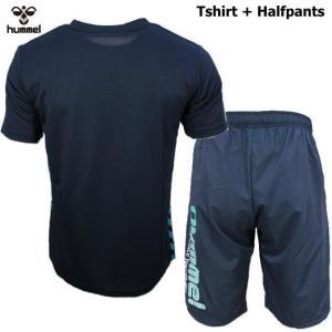 ヒュンメル Tシャツ 上下 メンズ トレーニングウェア サッカー 半袖 + ハーフ HAP4129 HAP2065 2カラー 吸汗速乾 上下セット|sportsjima|08