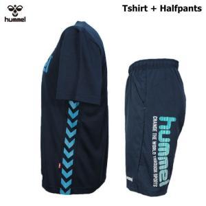 ヒュンメル Tシャツ 上下 メンズ トレーニングウェア サッカー 半袖 + ハーフ HAP4129 HAP2065 2カラー 吸汗速乾 上下セット|sportsjima|09