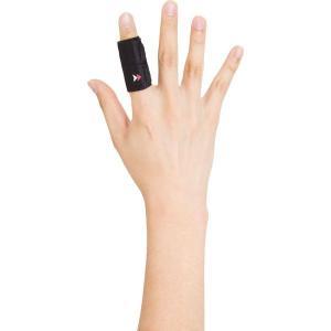 ザムスト フィンガーラップ 1本指 Mサイズ AVT-373802 ブラック  【特徴】 突き指後の...