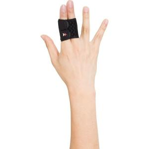 ザムスト フィンガーラップ 2本指 Lサイズ AVT-373903 ブラック  【特徴】 突き指後の...