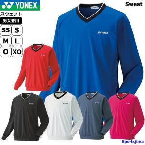 ヨネックス スウェット ジャケット メンズ トレーナー V首 薄手 シャツ トレーニングウェア 32...