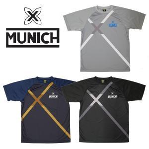 MUNICH-ムニック クロスロゴ 半袖昇華プラクティスシャツ/プラシャツ フットサルウェア/サッカーウェア sportskym