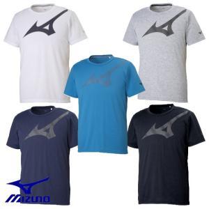 MIZUNO-ミズノ ユニセックス 半袖ロゴTシャツ/プラクティスTシャツ スポーツウェア|sportskym