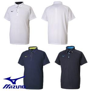 MIZUNO-ミズノ 半袖ポロシャツ ボタンダウンタイプ スポーツウェア/ランニングウェア|sportskym