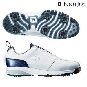 超人気モデル FJ ULTRA FIT - ウルトラフィット 日本正規品 ホワイト/ネイビー FOOTJOY-フットジョイ メンズゴルフシューズ|sportskym