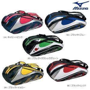 MIZUNO-ミズノ ラケットバッグ6本入れ ラケットケース/ラケットバッグ ラケットバック/テニス・ソフトテニス・バドミントンバッグ|sportskym
