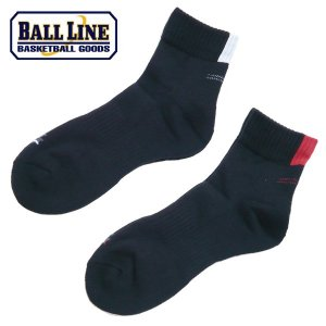 BALL LINE-ボールライン ミドルショートソックス/バスケットソックス ON THE COURT-オンザコート バスケットウェア/ソックス|sportskym