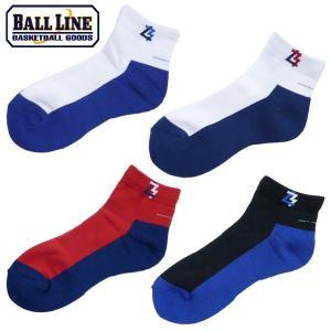 BALL LINE-ボールライン ショートソックス/バスケットソックス ON THE COURT-オンザコート バスケットウェア/ソックス|sportskym