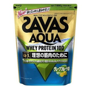 理想の筋肉のために ザバス アクア ホエイプロテイン 100 グレープフルーツ風味 1袋(1890g) SAVAS-ザバス サプリメント/プロテイン|sportskym