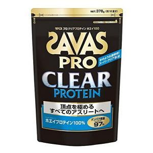 頂点を極めるアスリート向 ザバスプロ クリアプロテインホエイ100 クリア風味 1袋(378g入) SAVAS-ザバス プロテイン/サプリメント SALE/セール|sportskym