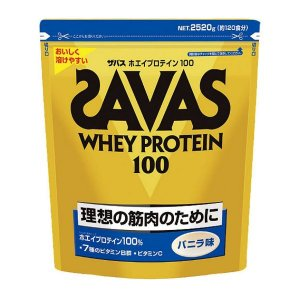 理想とする筋肉のために ザバス ホエイプロテイン100 バニラ味 1袋(2520kg) SAVAS-ザバス サプリメント/プロテイン|sportskym