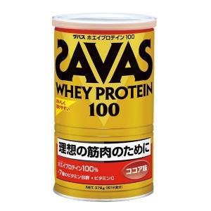 理想とする筋肉のために ザバス ホエイプロテイン100 ココア味 1缶(378g) SAVAS-ザバス サプリメント/プロテイン|sportskym
