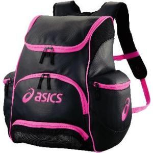 asics-アシックス バックパック ブラック×R.ピンク マルチ・カジュアル/スポーツバッグ|sportskym