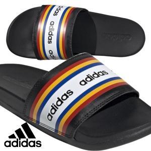 adidas-アディダス アディレッタ CF シャワーサンダル ブラック×アクティブゴールド スポーツサンダル/シャワーサンダル sportskym