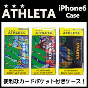 iPhone6/6S専用 手帳型スマホケース/スマホカバー ATHLETA-アスレタ フットサルウェア/サッカーウェア|sportskym