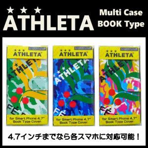 多機種対応 手帳型 マルチスマホケース ATHLETA-アスレタ フットサルウェア/サッカーウェア|sportskym
