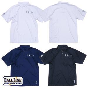 BALL LINE-ボールライン 半袖ボタンダウンポロシャツ ON THE COURT-オンザコート バスケットウェア/プラシャツ|sportskym