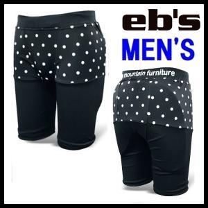 eb's-エビス MEN'S HIP-PROTECT - ヒッププロテクター ドット柄 スノーボード用品/プロテクター sportskym