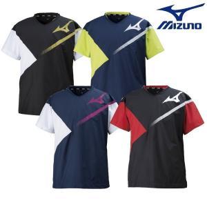 MIZUNO-ミズノ ブレーカーシャツ/半袖ピステ バレーボールウェア/バレーウェア|sportskym